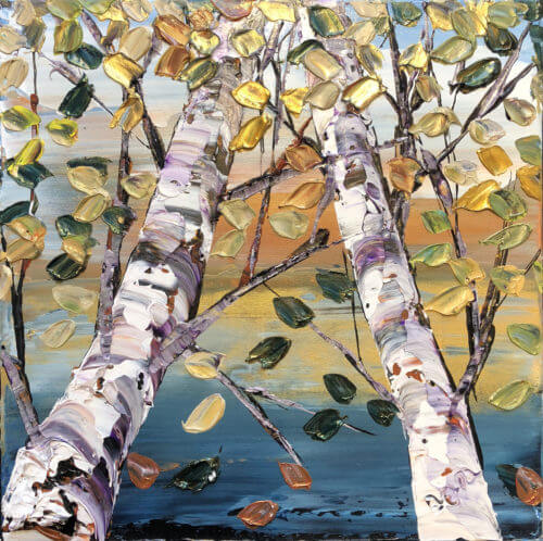 Maya Eventov Birch Looking Up Grey 2 16×16