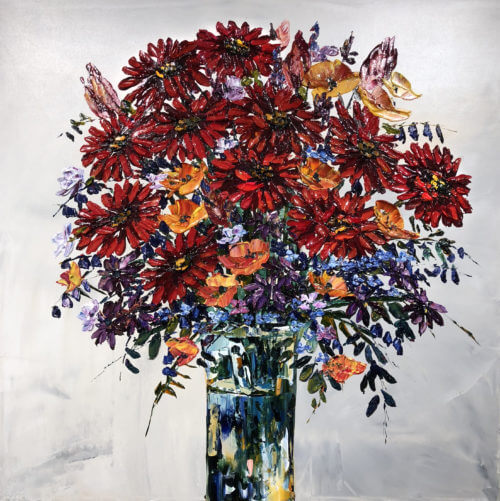 Maya Eventov Cut Flowers IV 36×36