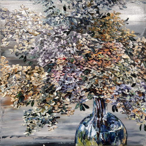 Maya Eventov Floral Hydrangea and Vase 36×36